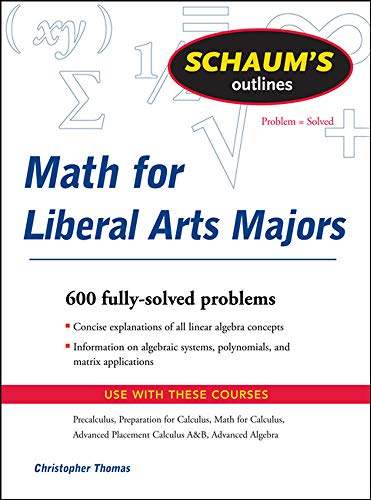 9780071544290: Schaum's Outline of Mathematics for Liberal Arts Majors (Schaum's Outlines)