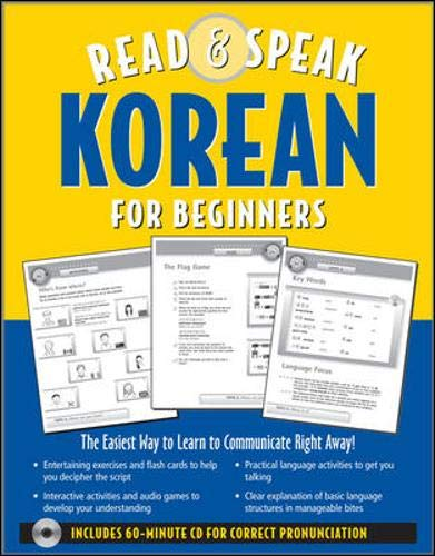 9780071544405: Read ; Speak Korean for Beginners (Book w/Audio CD): The Easiest Way to Communicate Right Away! (Read & Speak for Beginners)