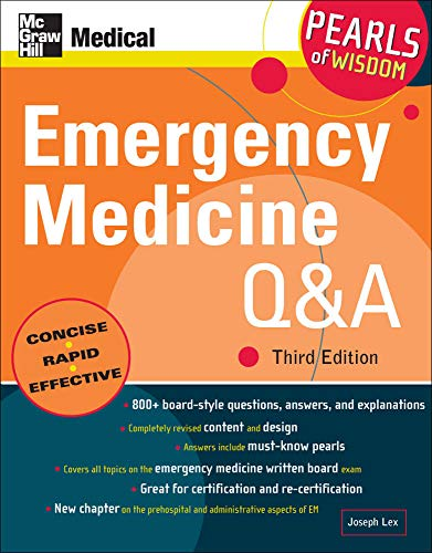 9780071544696: Emergency Medicine Q&A: Pearls of Wisdom, Third Edition
