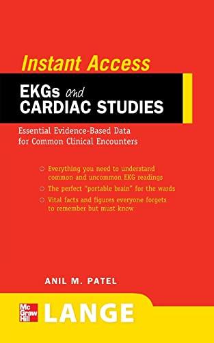 9780071545235: LANGE Instant Access EKGs and Cardiac Studies