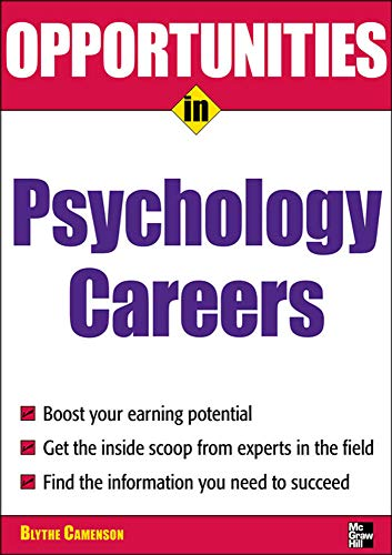 9780071545303: Opportunities in Psychology Careers (Opportunities in ... (Paperback))