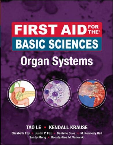 9780071545433: First Aid for the Basic Sciences, Organ Systems