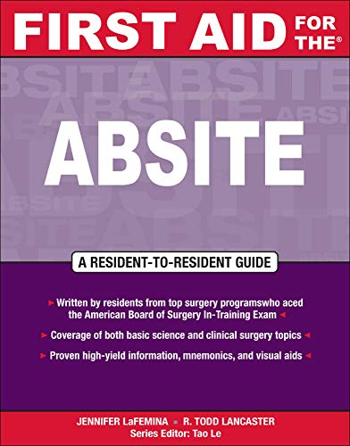 First Aid for the? ABSITE: R. Todd Lancaster;