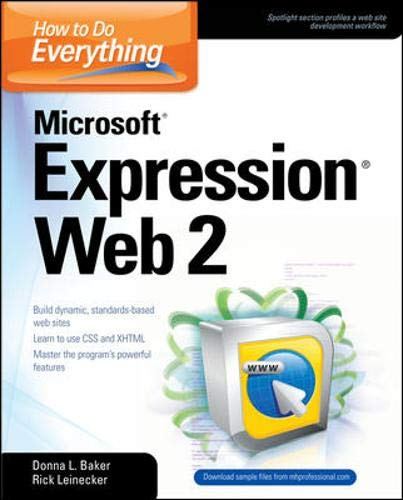 9780071545877: How to Do Everything Microsoft Expression Web 2
