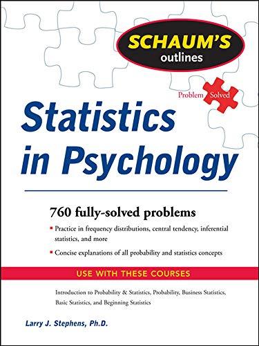 9780071545990: Schaum's Outline of Statistics in Psychology (Schaum's Outline Series)