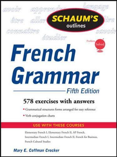 9780071546058: Schaum's Outline of French Grammar, 5ed (Schaum's Outline Series)