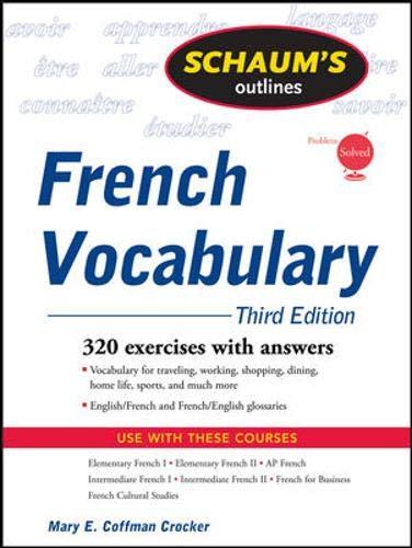 9780071546072: Schaum's Outline of French Vocabulary, 3ed (Schaum's Outline Series)