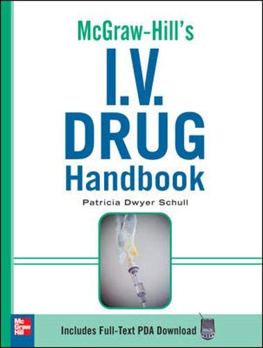 9780071548632: McGraw-Hill's I.V. Drug Handbook (McGraw-Hill Handbooks)