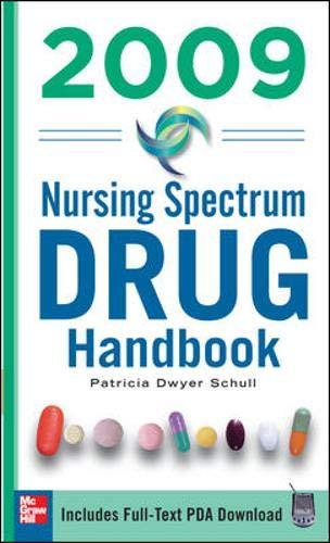 9780071548779: Nursing Spectrum Drug Handbook 2009 (McGraw-Hill's Nurses Drug Handbook)