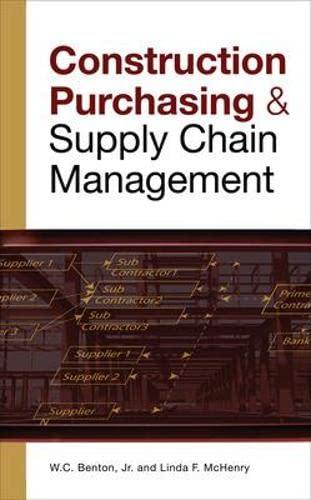 9780071548854: CONSTRUCTION PURCHASING & SUPPLY CHAIN MANAGEMENT