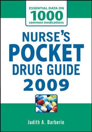 9780071549707: NURSES POCKET DRUG GUIDE 2009