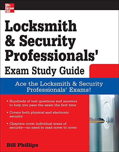 9780071549813: Locksmith and Security Professionals' Exam Study Guide