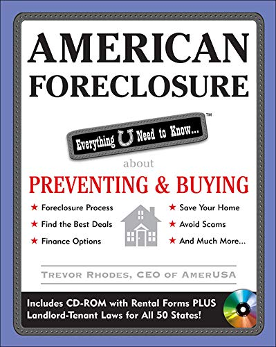 9780071590587: American Foreclosure: Everything U Need to Know About Preventing and Buying (Everything You Need to Know (McGraw-Hill))