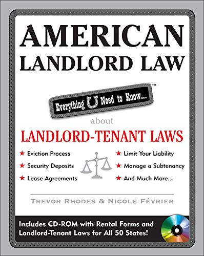 9780071590624: American Landlord Law: Everything U Need to Know About Landlord-Tenant Laws (American Real Estate)