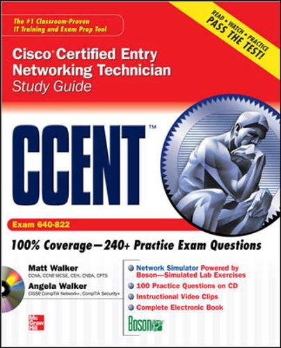 9780071591140: CCENT Cisco Certified Entry Networking Technician Study Guide (Exam 640-822) (Study Guide Book & CD)
