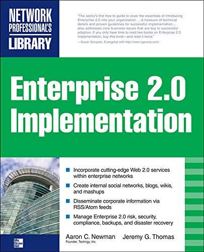 9780071591607: ENTERPRISE 2.0 IMPLEMENTATION: Integrate Web 2.0 Services into Your Enterprise
