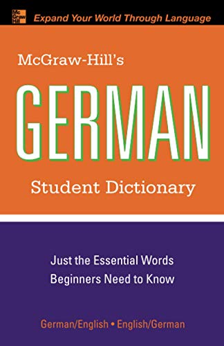 9780071592406: McGraw-Hill's German Student Dictionary (McGraw-Hill Dictionary Series)