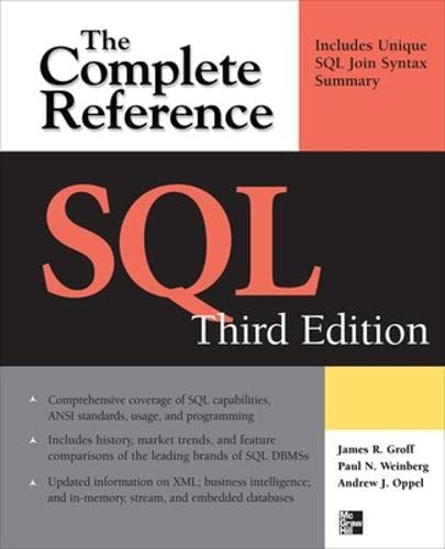 9780071592550: SQL: The Complete Reference, 3rd Edition