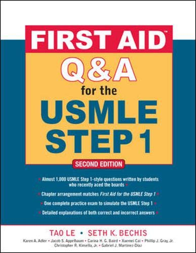 9780071597944: First Aid Q&A for the USMLE Step 1, Second Edition (First Aid USMLE)