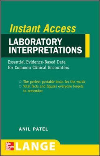 9780071598262: Lange Instant Access Laboratory Interpretations