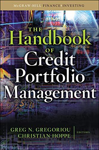 9780071598347: The Handbook of Credit Portfolio Management (McGraw-Hill Finance & Investing)