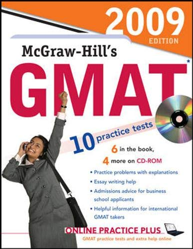 9780071598446: McGraw-Hill's GMAT with CD-ROM, 2009 Edition (McGraw-Hill's GMAT (W/CD))