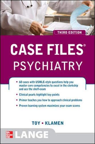 9780071598651: Case Files Psychiatry, Third Edition (LANGE Case Files)