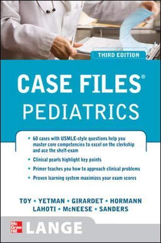 9780071598675: Case Files Pediatrics, Third Edition (Lange Case Files)