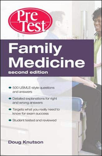 9780071598880: Family Medicine  PreTest Self-Assessment & Review, Second Edition (PreTest Clinical Medicine)