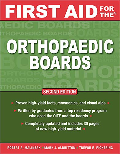 9780071598941: First Aid for the Orthopaedic Boards, Second Edition (A & L Review)