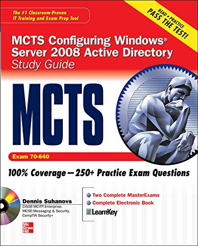 9780071599276: MCTS Windows Server 2008 Active Directory Services Study Guide (Exam 70-640) (SET)