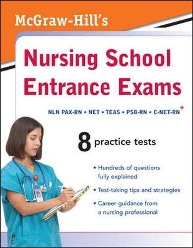 9780071599375: McGraw-Hill's Nursing School Entrance Exams