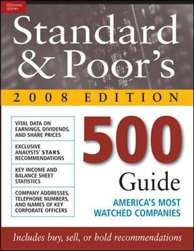 9780071599450: Standard And Poor's 500 Guide 2008 Edition