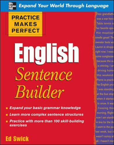 9780071599603: Practice Makes Perfect English Sentence Builder