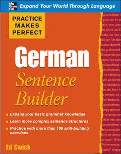 9780071599627: Practice Makes Perfect German Sentence Builder