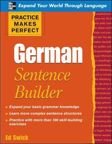 9780071599627: Practice Makes Perfect German Sentence Builder (Practice Makes Perfect Series)
