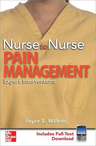 9780071600088: Nurse to Nurse Pain Management