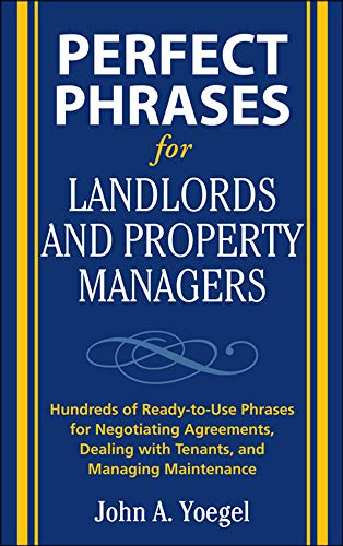 9780071600514: Perfect Phrases for Landlords and Property Managers (Perfect Phrases Series)