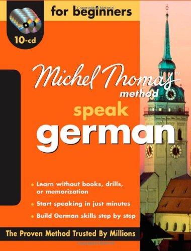 9780071600743: Michel Thomas Method™ German For Beginners, 10-CD Program (Michel Thomas Series)