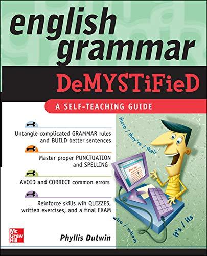 9780071600804: English Grammar Demystified: A Self Teaching Guide