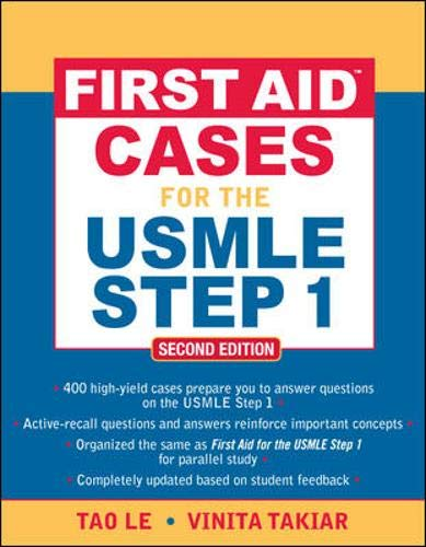 9780071601351: First Aid™ Cases for the USMLE Step 1: Second Edition (First Aid USMLE)