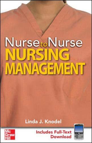 9780071601535: Nurse to Nurse Nursing Management