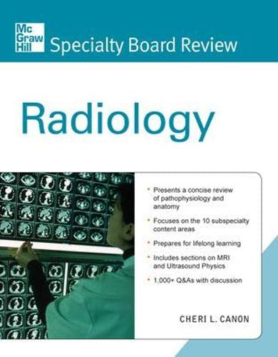 9780071601641: McGraw-Hill Specialty Board Review Radiology