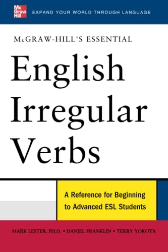 9780071602860: McGraw-Hill's Essential English Irregular Verbs (McGraw-Hill ESL References)