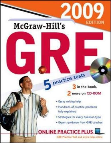 9780071603072: McGraw-Hill's GRE with CD-ROM, 2009 Edition (Mcgraw-Hill's Gre (Book & CD-Rom))