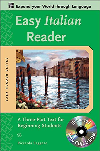9780071603348: Easy Italian Reader w/CD-ROM: A Three-Part Text for Beginning Students