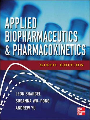 9780071603935: Applied Biopharmaceutics & Pharmacokinetics, Sixth Edition (Shargel, Applied Biopharmaceuticals & Pharmacokinetics)