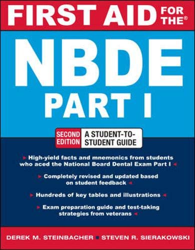 9780071605410: FIRST AID FOR THE NBDE PART 1 2/E: Pt. 1 (First Aid Series)