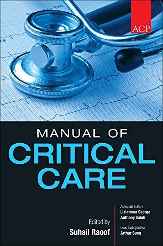 9780071605656: ACP Manual of Critical Care