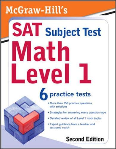 9780071609227: McGraw-Hill's SAT Subject Test: Math Level 1, 2/E (McGraw-Hill's SAT Math Level 1)
